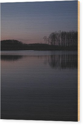 Crab Orchard Lake At Peace - 2 Wood Print