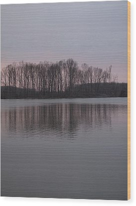 Crab Orchard Lake At Peace - 3 Wood Print