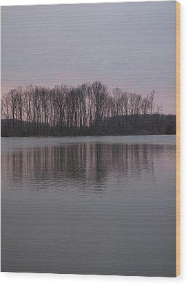 Crab Orchard Lake At Peace - 3 Wood Print by Frank Chipasula