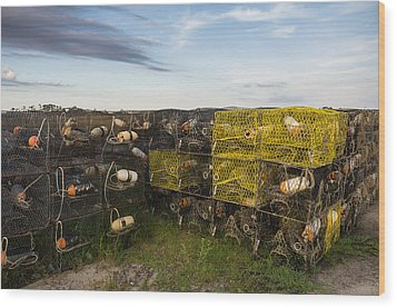 Wood Print featuring the photograph Crab Pots by Gregg Southard