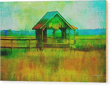 Crab Shack Pawleys Island Wood Print