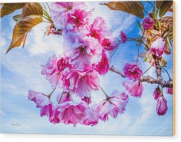 Crabapple Impressions Wood Print by Bob Orsillo
