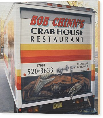 Crabhouse Truck Wood Print by Bill Jonas