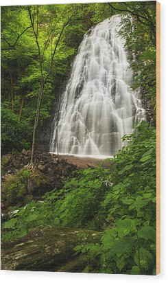 Crabtree Falls Wood Print by Photography  By Sai