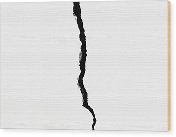 Crack Wood Print by Alexander Senin