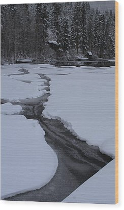 Cracked Ice  Wood Print by Duncan Selby