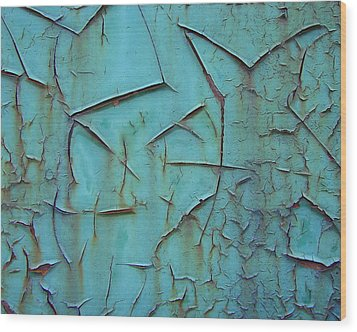 Wood Print featuring the photograph Crackled Rust by Ramona Johnston
