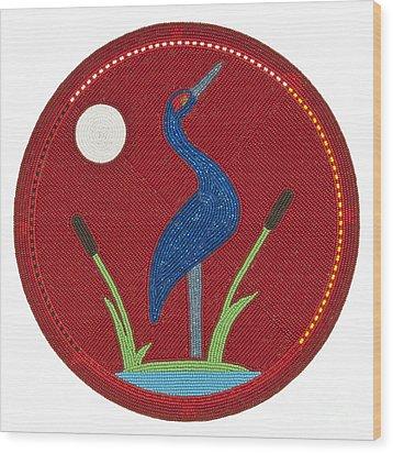 Cradleboard Beadwork Summer Crane Wood Print