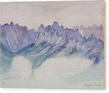 Craggy Peaks Wood Print by Carolyn Doe