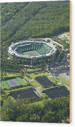 Crandon Park Tennis Center Wood Print