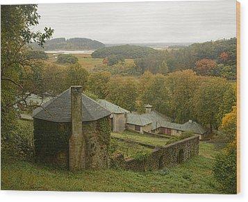 Crane Estate On A Misty Day Wood Print