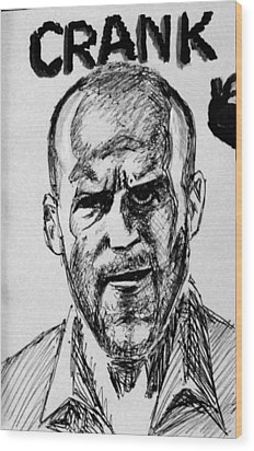 Wood Print featuring the painting Jason Statham by Salman Ravish