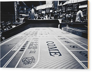 Craps Table In Las Vegas Wood Print
