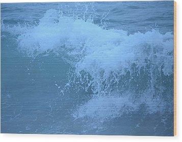 Crashing Wave Wood Print by Kiros Berhane