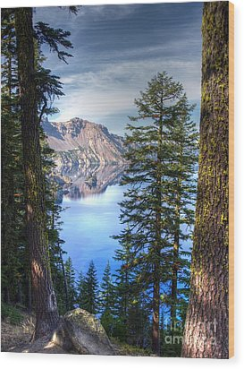 Crater Lake 1 Wood Print