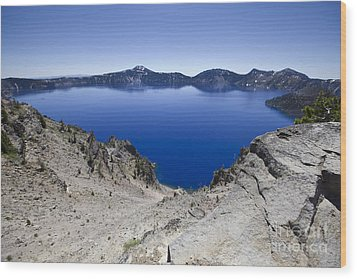 Crater Lake Wood Print by David Millenheft