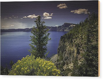 Crater Lake Wood Print by Jean-Jacques Thebault