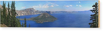 Crater Lake Wood Print by Melisa Meyers