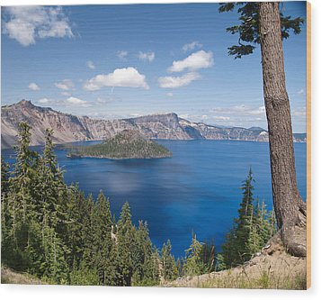 Crater Lake National Park Wood Print