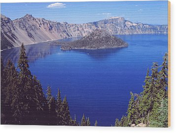 Wood Print featuring the photograph Crater Lake Oregon by Mary Bedy