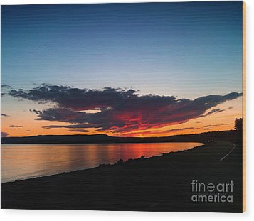 Crater Lake Yellowstone National Park Montana Wood Print by Thomas Woolworth
