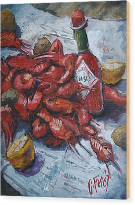 Crawfish Tabasco Wood Print