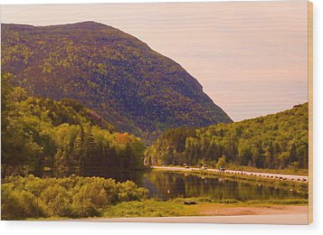 Crawford Notch Homage To Thomas Cole Wood Print