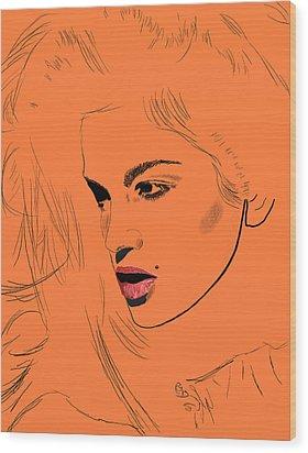 Crawford Orange Wood Print by GCannon