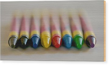 Wood Print featuring the photograph Crayons by Robert  Aycock