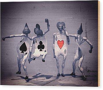 Crazy Aces Wood Print by Bob Orsillo