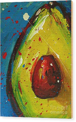 Crazy Avocado 4 - Modern Art Wood Print