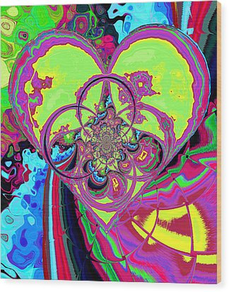 Crazy Love Wood Print by Wendy J St Christopher