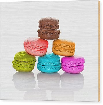 Crazy Macarons 2 Wood Print by Delphimages Photo Creations