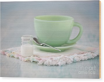 Cream And Coffee Wood Print by Kay Pickens