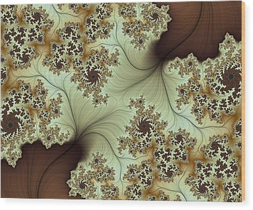 Wood Print featuring the digital art Creamed Coffee by Lea Wiggins