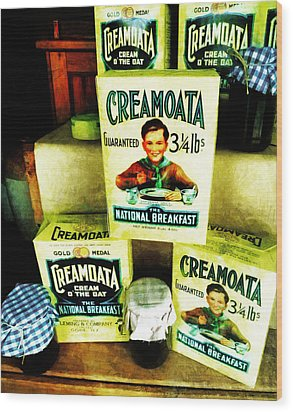 Creamoata - Cream  O' The Oat Wood Print by Steve Taylor