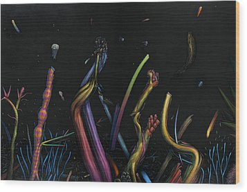 Creation Wood Print by James W Johnson