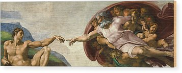 Creation Wood Print by Michelangelo