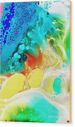Creation Wave Wood Print