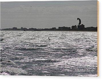 Creative Surfing Wood Print by Chris Thomas