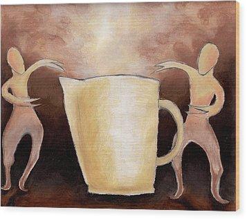 Creator Of The Coffee Wood Print by Keith Gruis