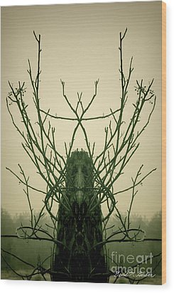 Creature Of The Wood Wood Print by David Gordon