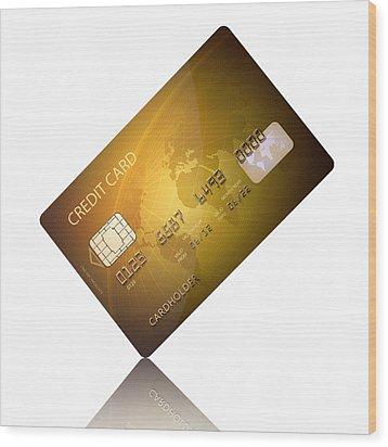 Credit Card Wood Print by Johan Swanepoel
