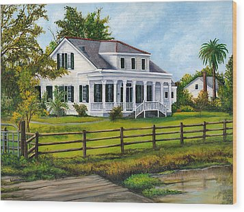 Creedmoor Plantation Wood Print by Elaine Hodges