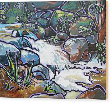 Creek Wood Print by Nadi Spencer