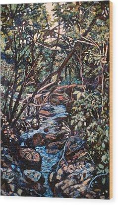 Creek Near Smart View Wood Print by Kendall Kessler