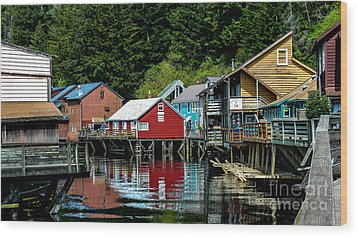 Creek Street - Ketchikan Alaska Wood Print