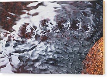 Creek Twirls Abstract Macro Wood Print