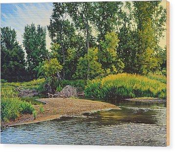 Creek's Bend Wood Print by Bruce Morrison