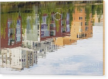 Creekside Reflections Wood Print by Kate Brown